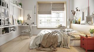 宜家风格公寓卧室装修效果图