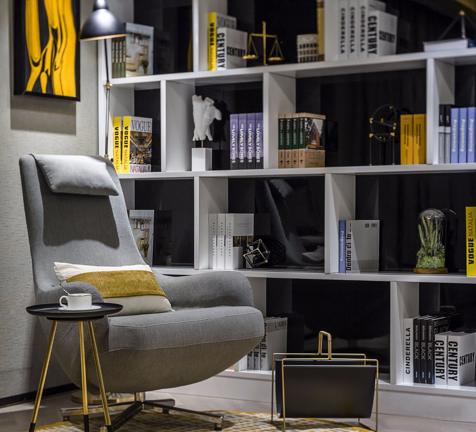 90㎡现代简约书房装修效果图