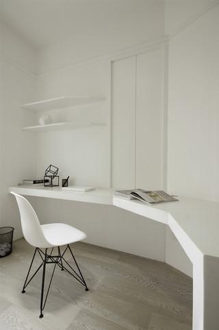 极简风格白色书房装修效果图
