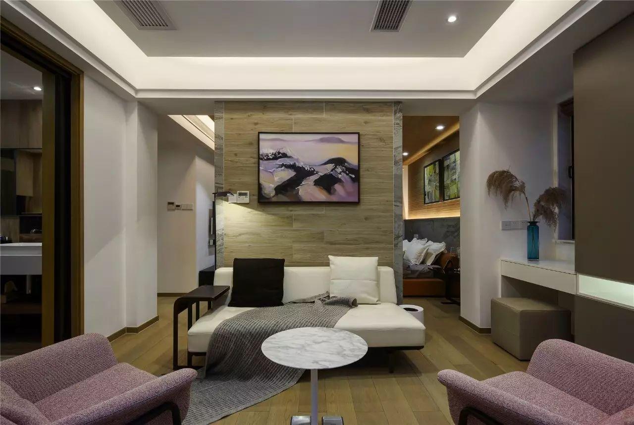 现代风格别墅起居室装修效果图