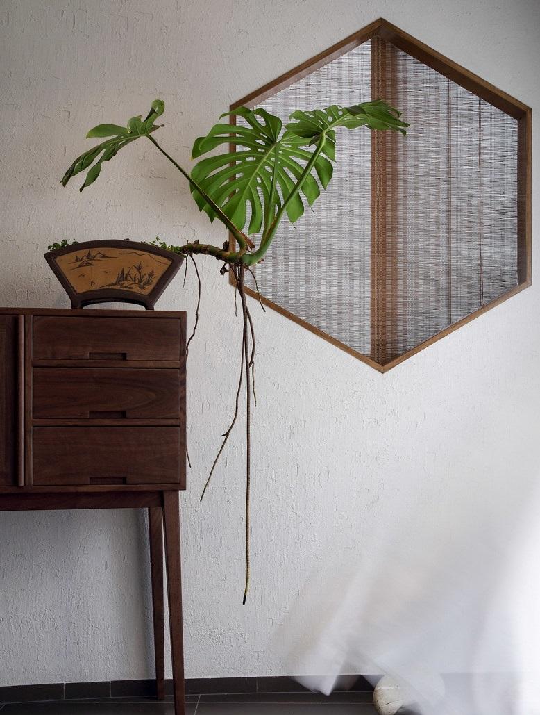 简约中式三居室玄关装修效果图