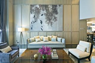 现代风格别墅沙发背景墙装修设计图