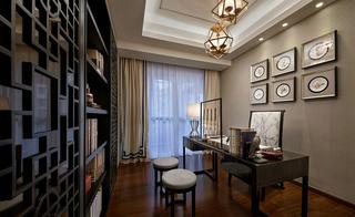 奢华新中式风格书房装修效果图