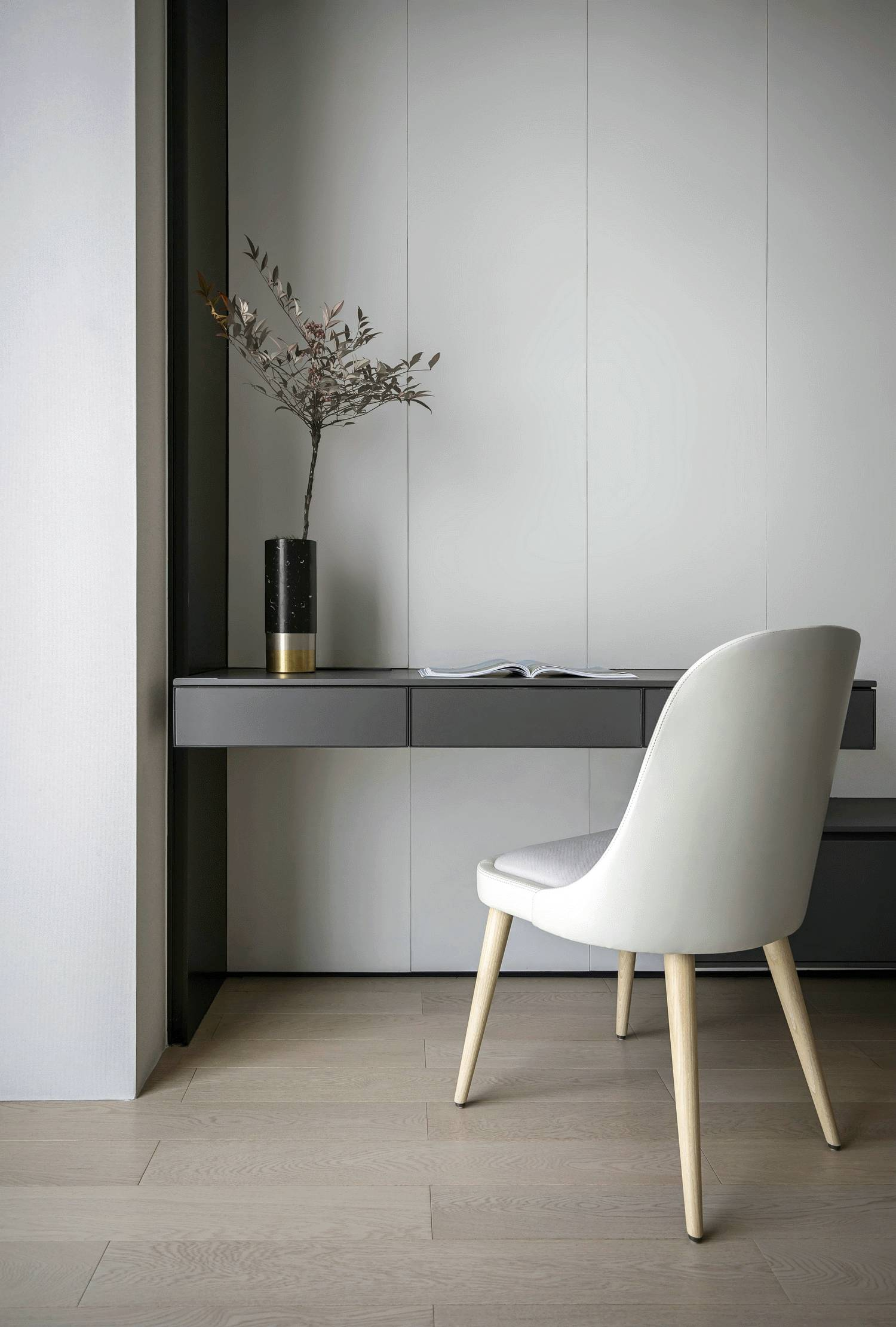 100㎡现代简约风装修书桌设计图