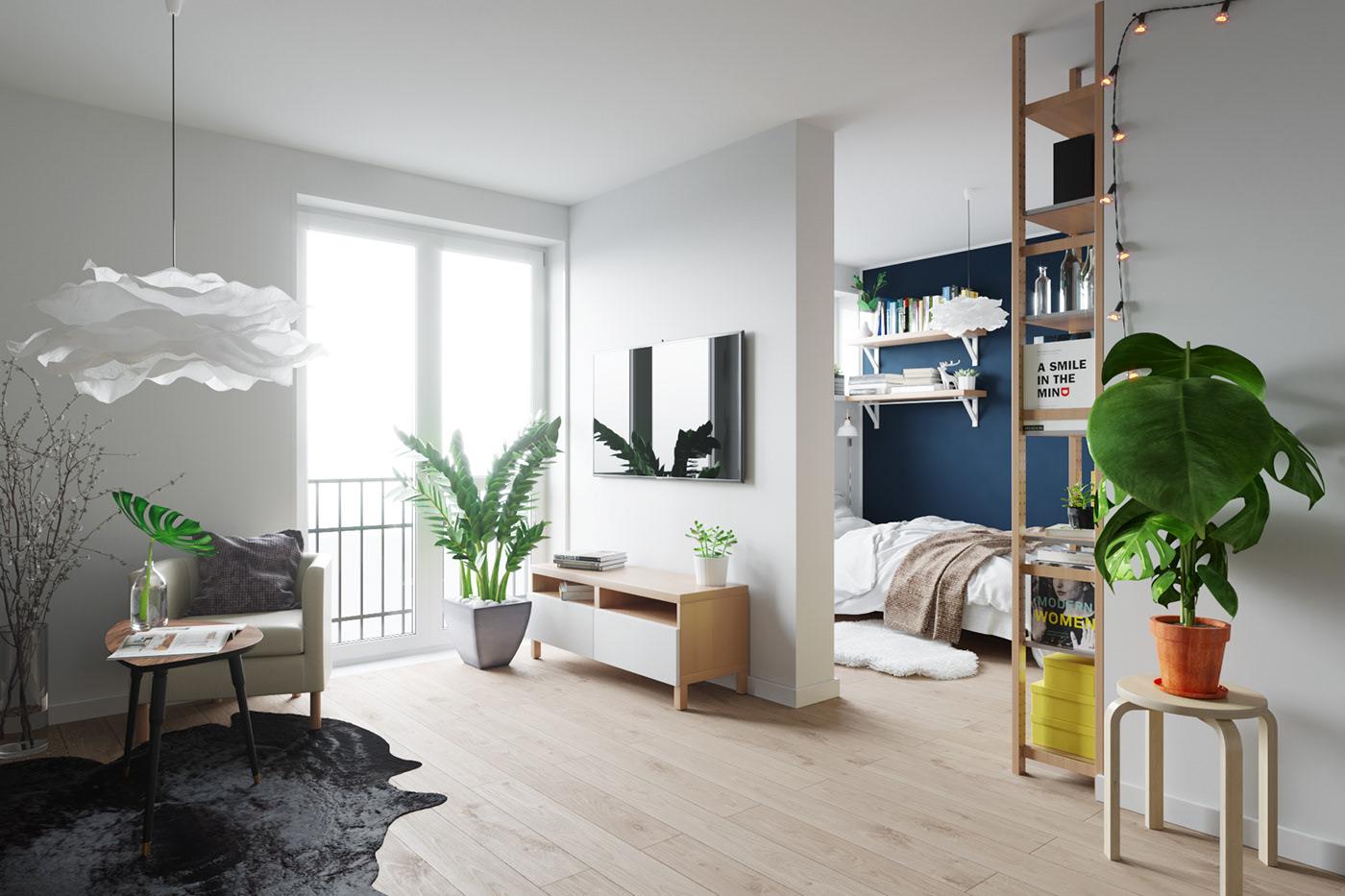 小户型北欧公寓装修效果图