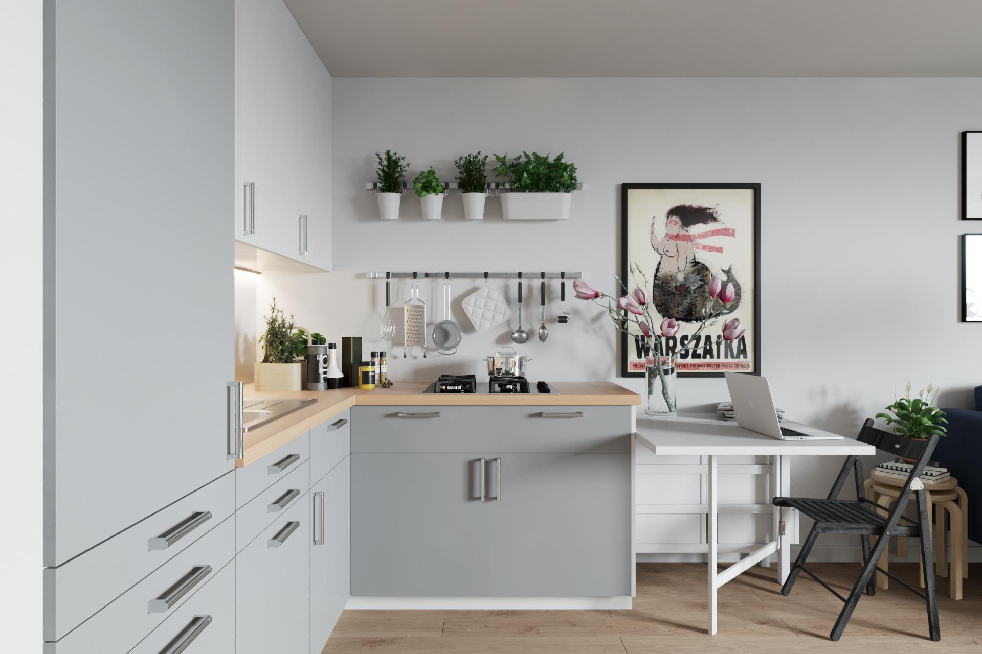 小户型北欧公寓厨餐厅装修效果图