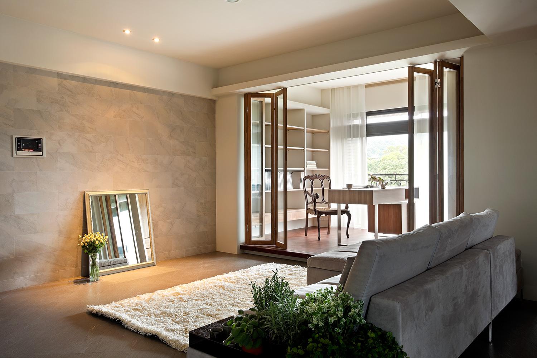 130平现代风格客厅装修效果图