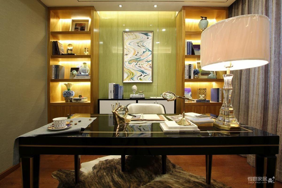 时尚简欧三居室书房装修效果图