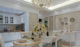 法式新古典别墅餐厅装修效果图