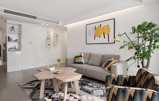 宜家风格两居室沙发背景墙装修效果图