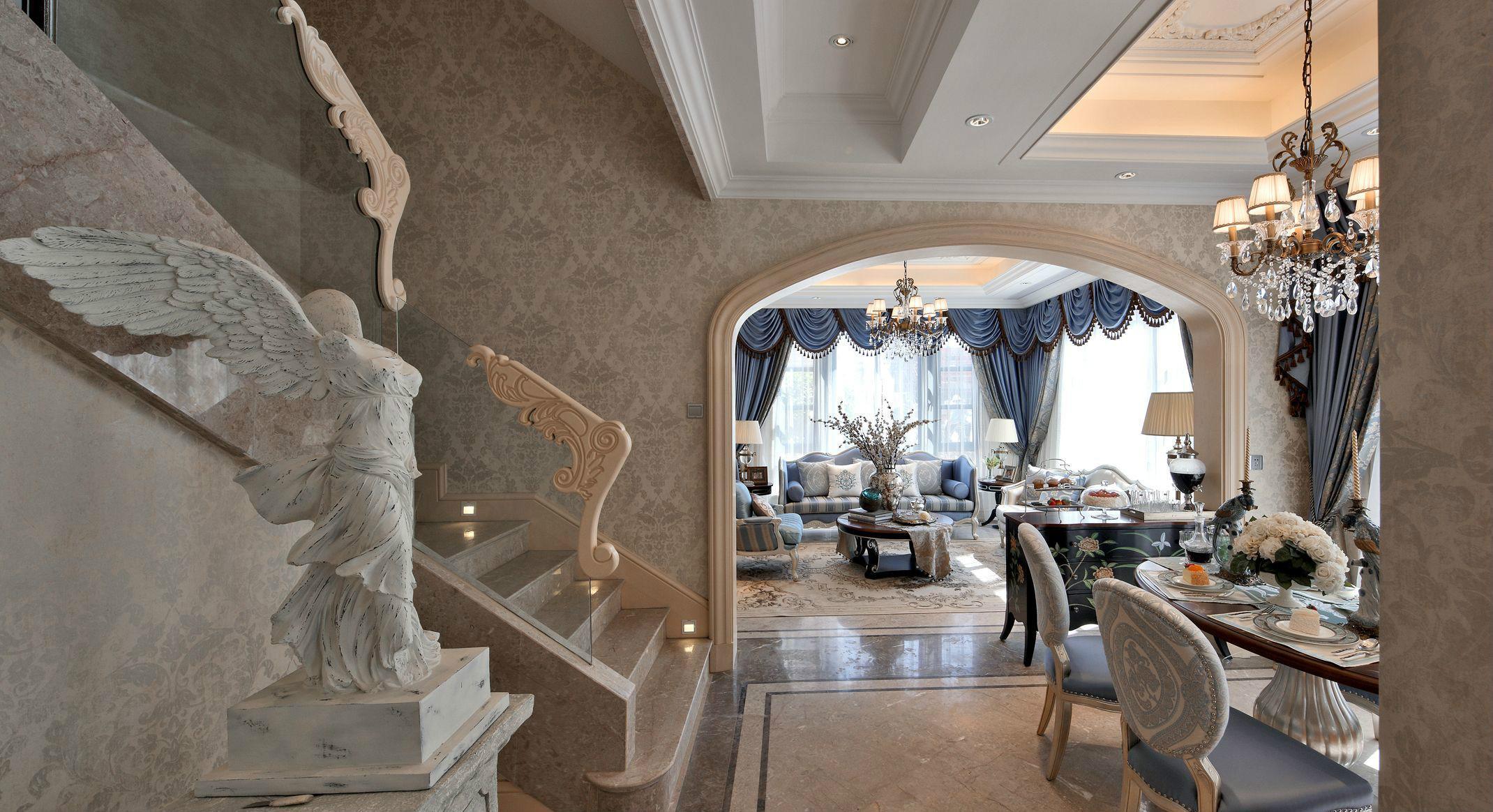法式风格别墅楼梯装修效果图