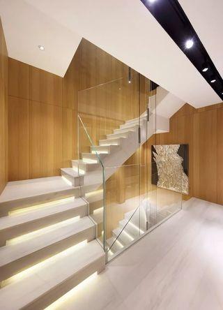 极简风格别墅楼梯装修效果图