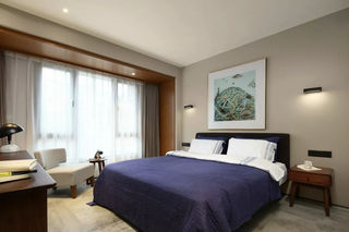120平简约风格卧室装修效果图