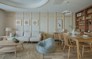 108㎡日式风格三居装修效果图