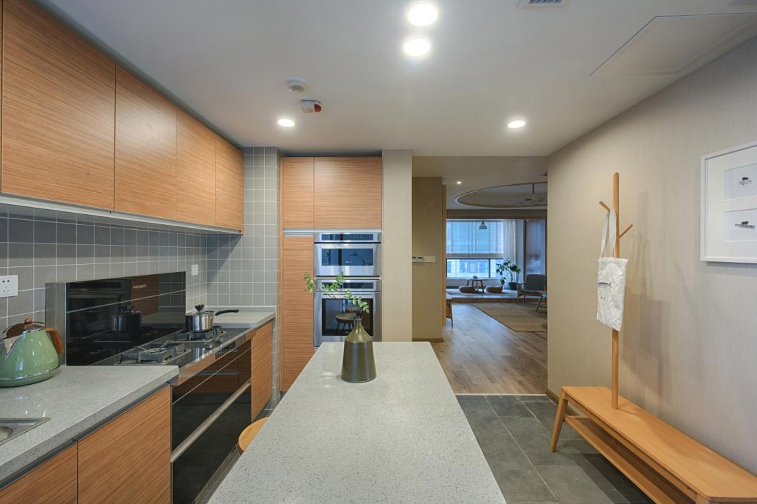 108㎡日式风格厨房装修效果图
