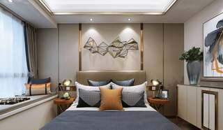精致优雅三居卧室背景墙装修效果图