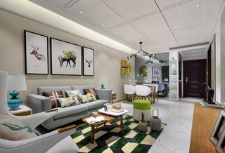 现代北欧风三居室装修效果图