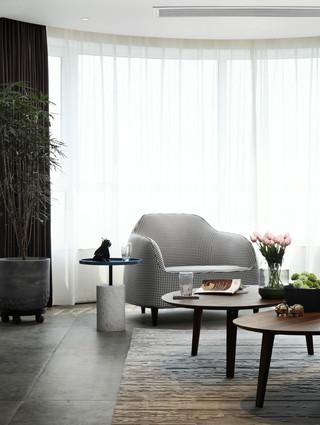 现代简约风大户型装修窗帘设计图