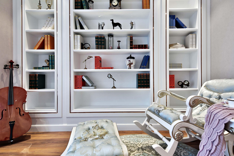 新古典风格大户型书柜装修效果图