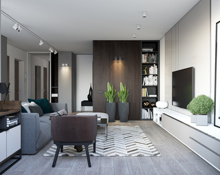 现代简约公寓装修设计效果图