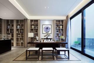 200㎡新中式风格书房装修效果图