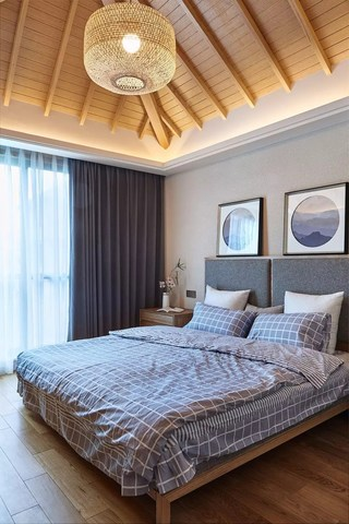 135㎡日式风格卧室装修效果图
