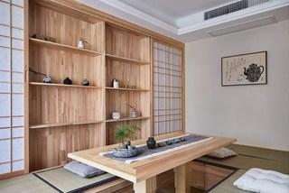 135㎡日式风格榻榻米茶室装修效果图