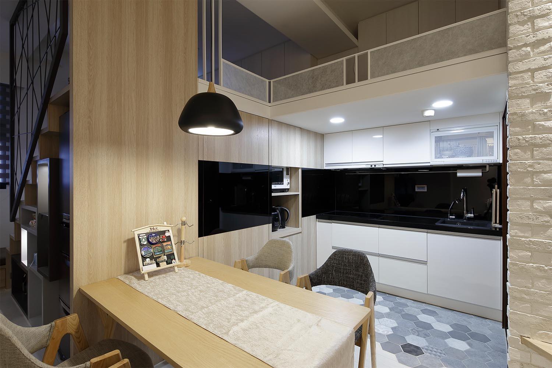 小户型北欧风厨房装修设计图