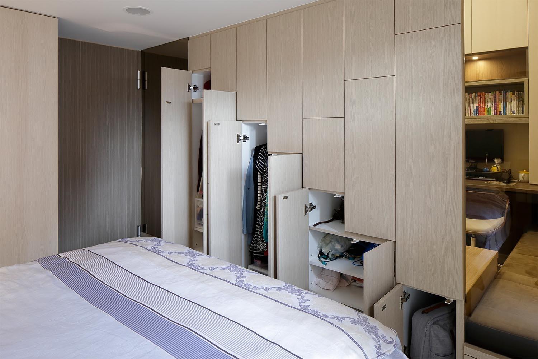 小户型北欧风卧室衣柜装修设计图