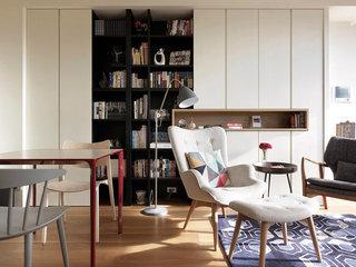 简约北欧风公寓书柜装修效果图