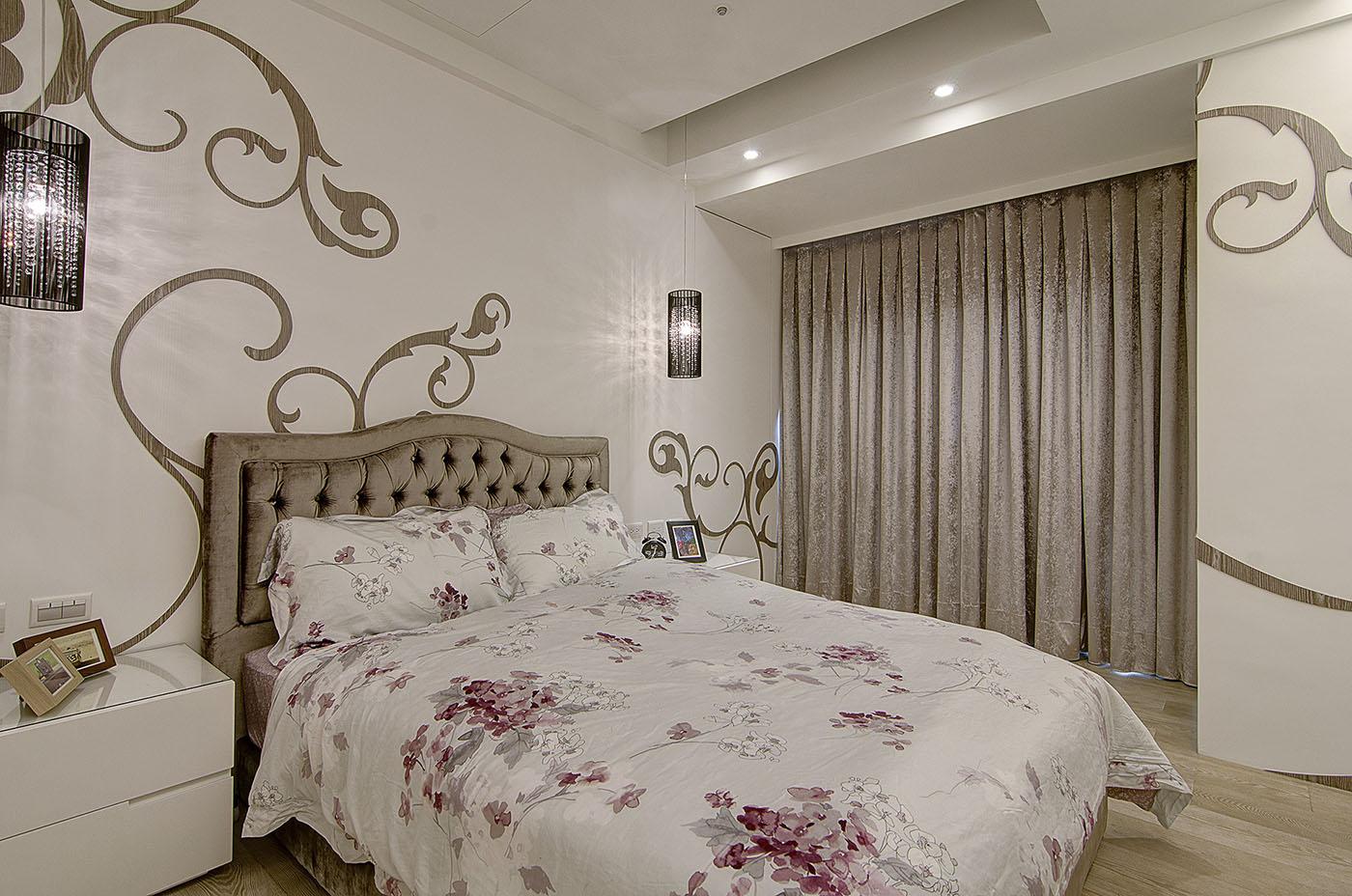 大户型现代奢华风卧室装修设计图