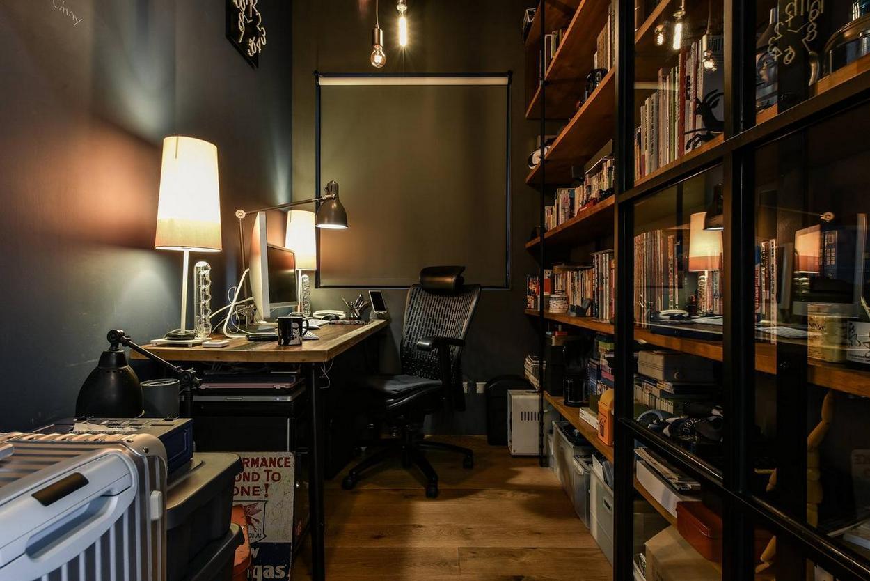 工业混搭风格公寓书房装修效果图