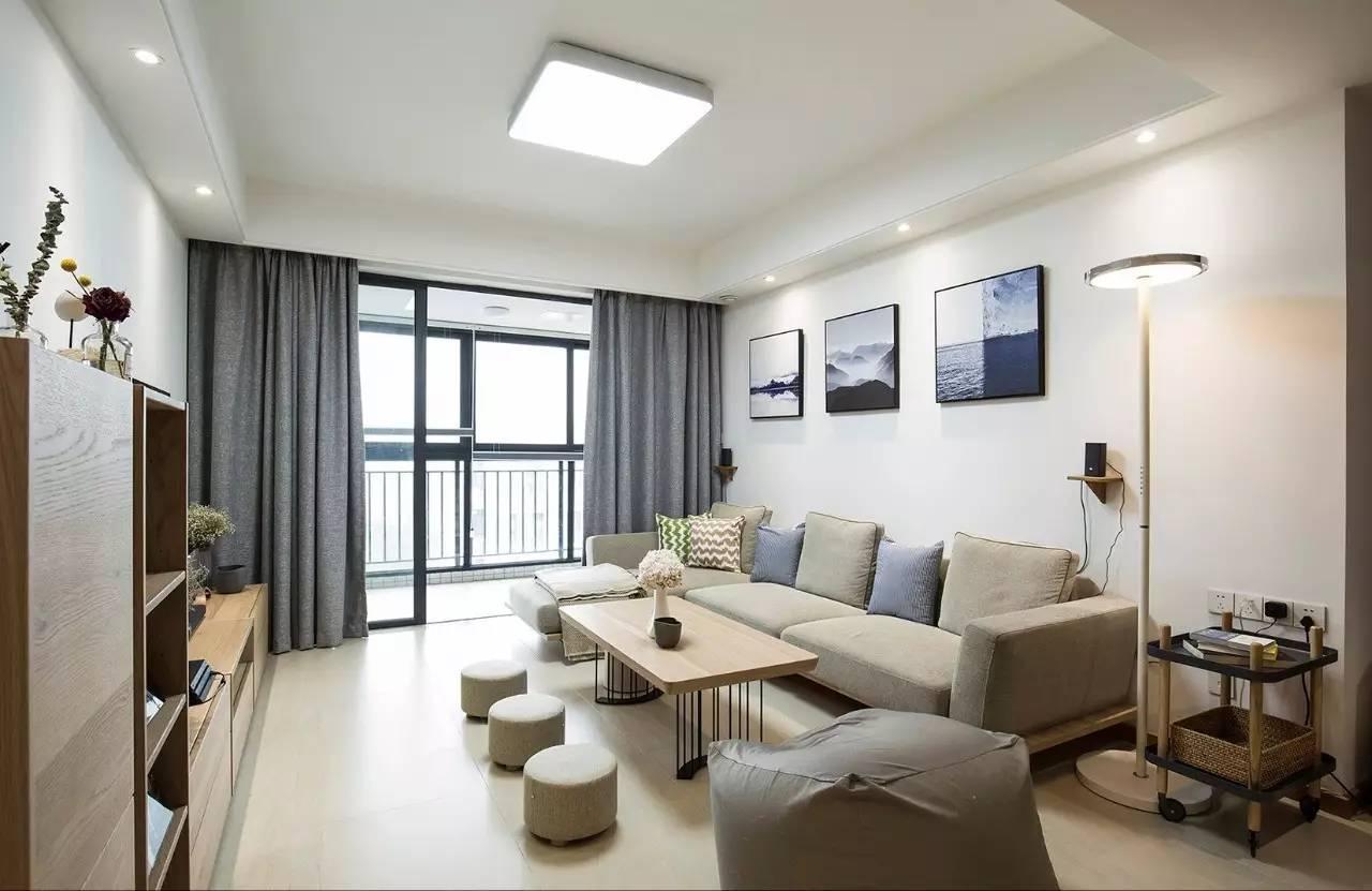 156㎡简约日式风格客厅吊顶装修效果图