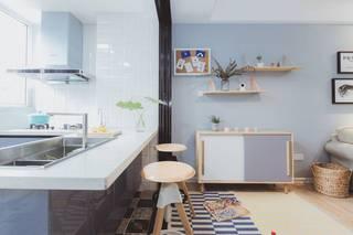 北欧风格三居吧台装修效果图