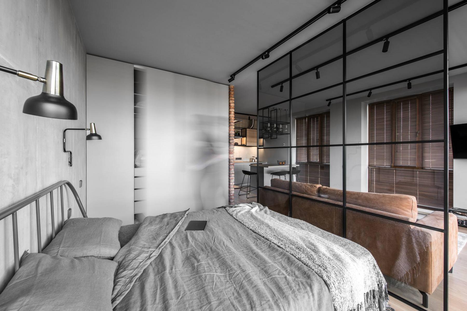 工业风格公寓卧室装修效果图