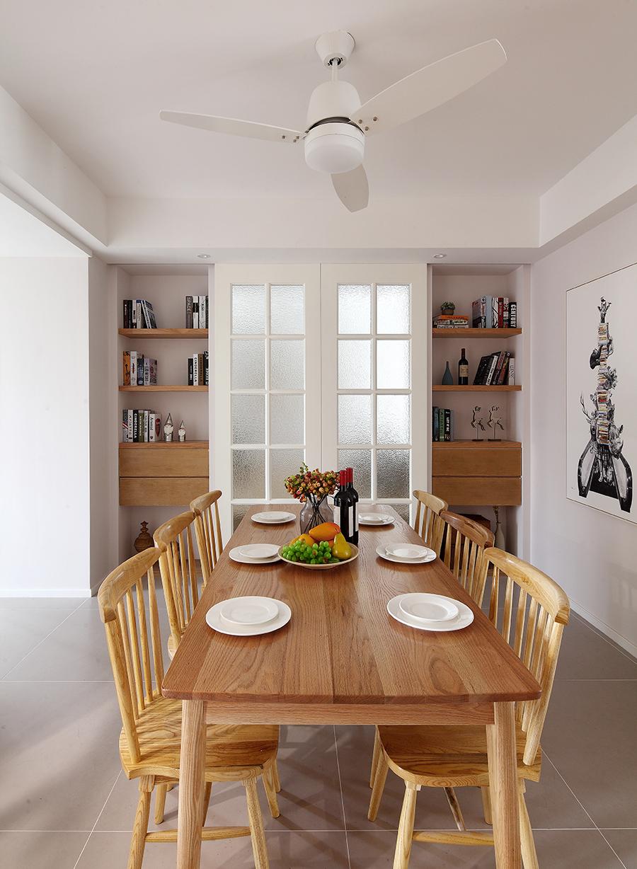 125㎡北欧风格装修餐桌椅设计图