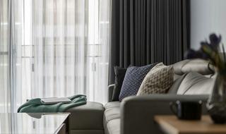 85平现代风格装修窗帘设计图