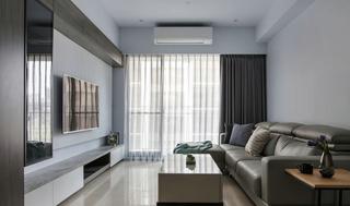 85平现代风格客厅装修效果图