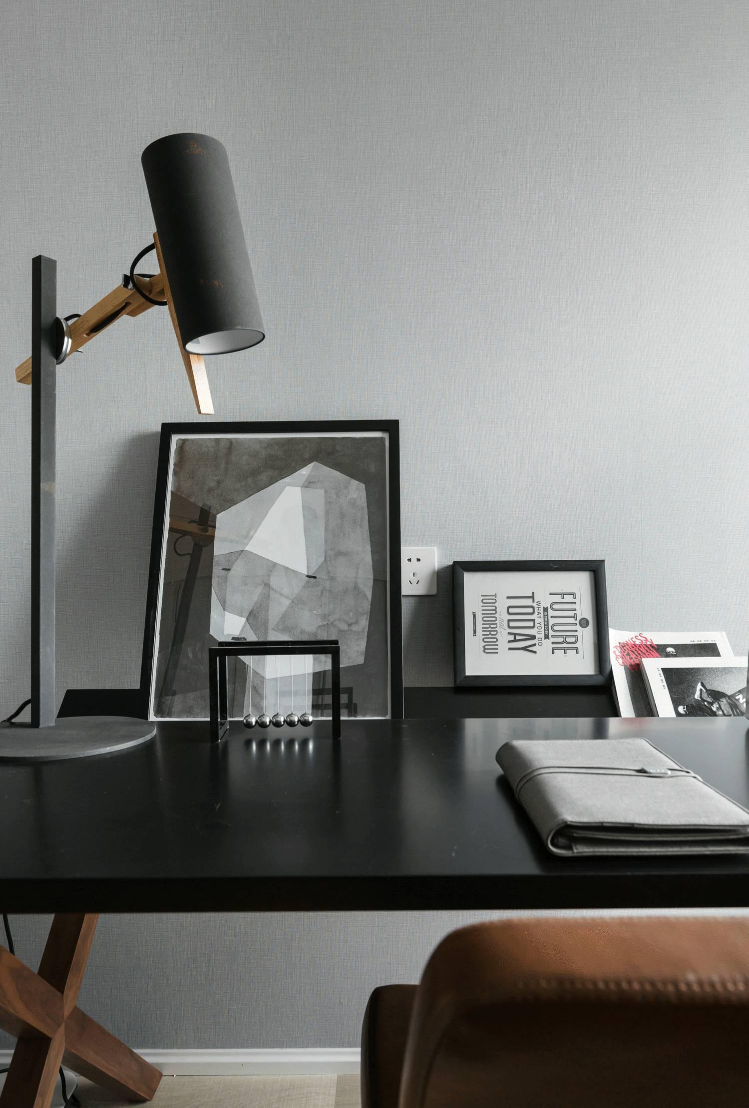 120平现代简约装修书桌设计图