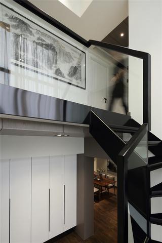 200㎡现代简约复式楼梯装修效果图