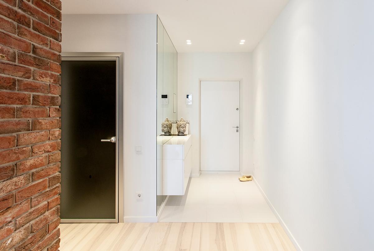 简约白色公寓玄关装修效果图