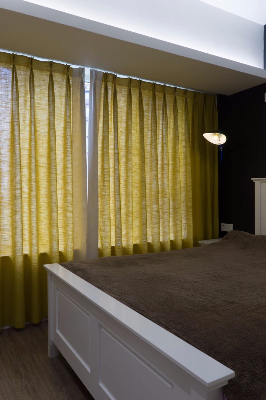 65㎡北欧风格装修卧室窗帘设计图