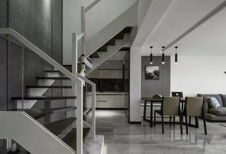 185㎡现代简约复式楼梯装修效果图