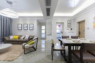 现代简约风格两居客餐厅过道装修设计图