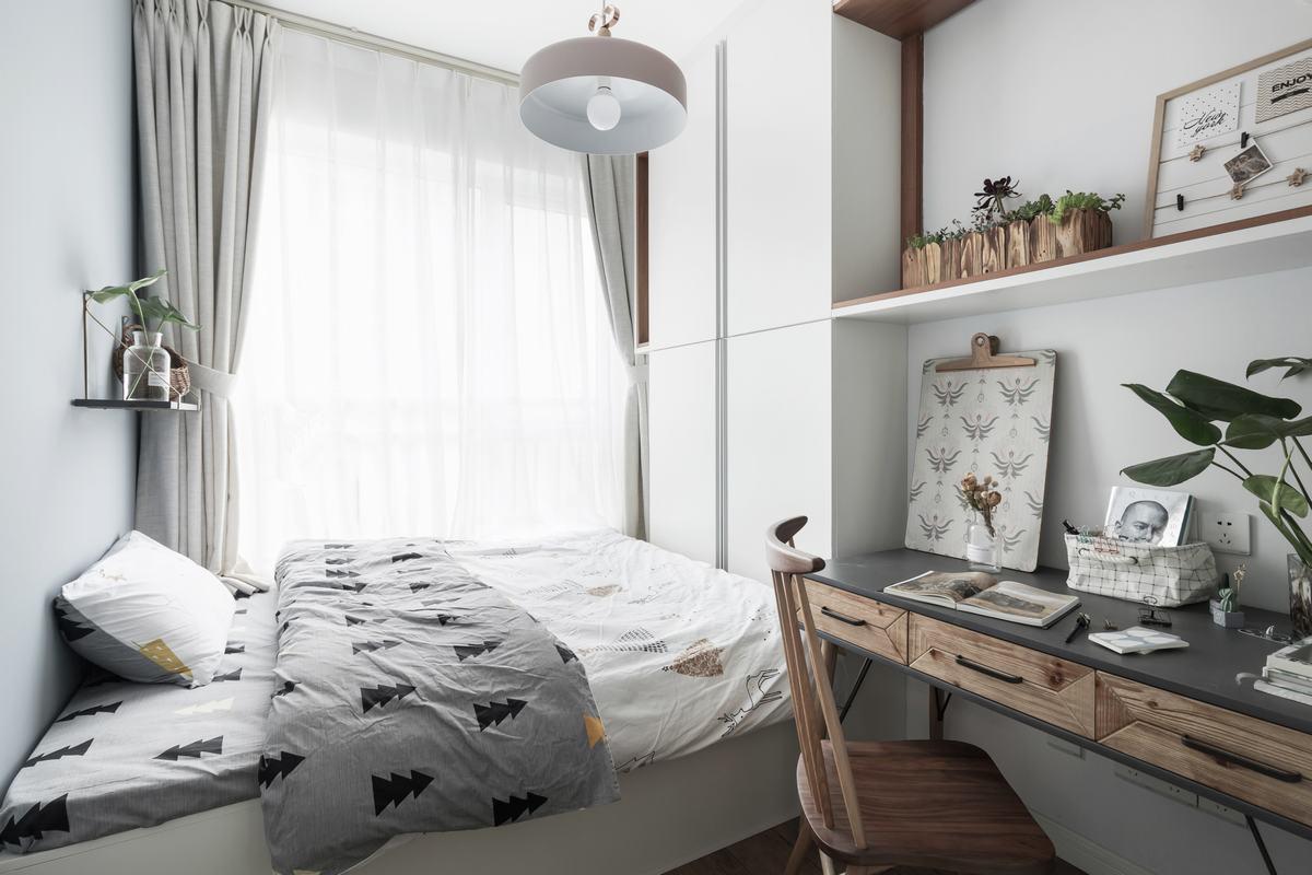 60㎡北欧风格卧室装修设计图