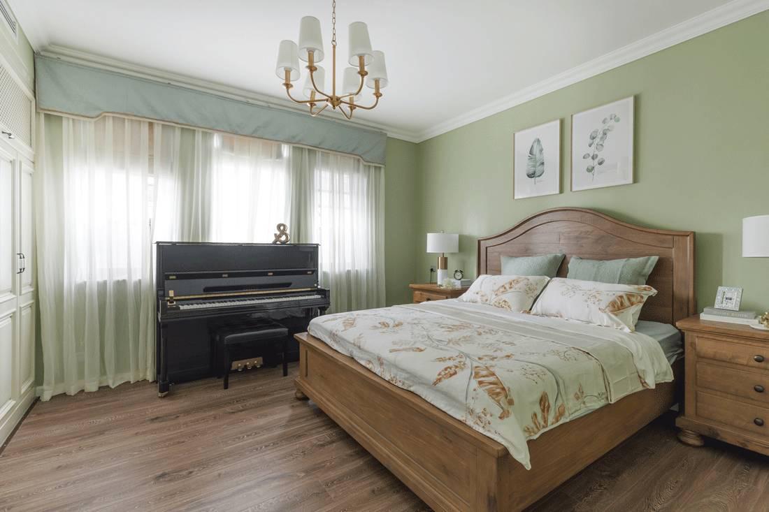 美式风格四居卧室装修设计效果图