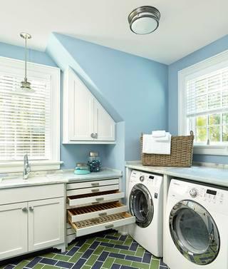 美式田园风格别墅洗衣房装修效果图