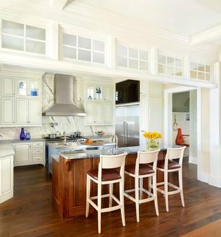 美式田园风格厨房别墅装修效果图