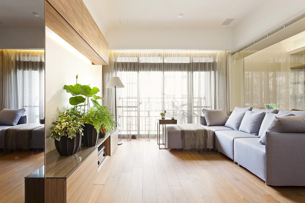 90平现代风格客厅装修效果图