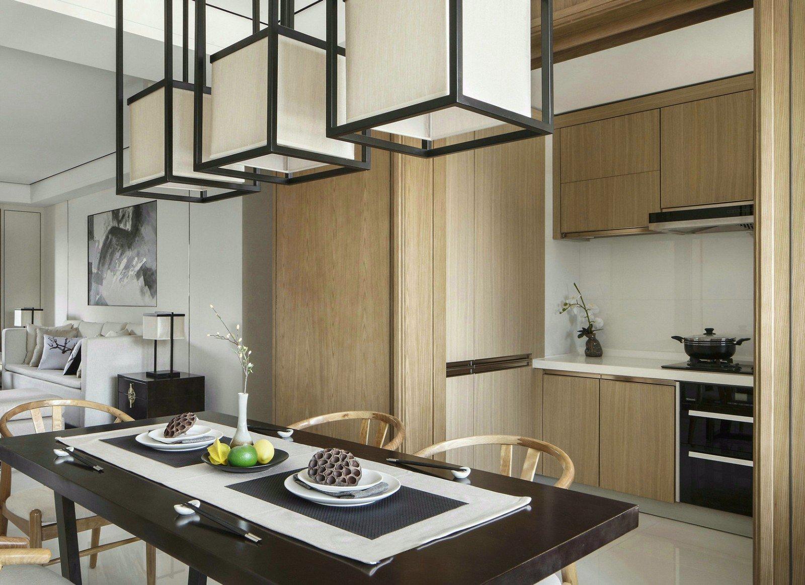 135㎡新中式厨房装修效果图